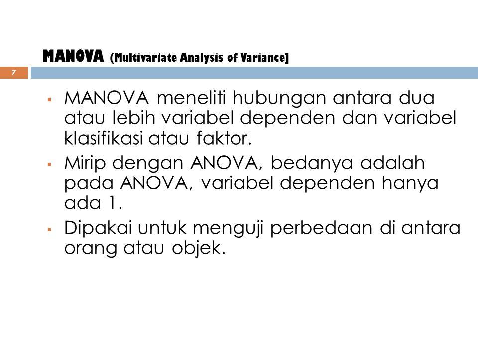 MANOVA (Multivariate Analysis of Variance]